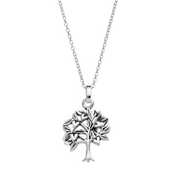 PRIMROSE Sterling Silver Family Tree Pendant Necklace