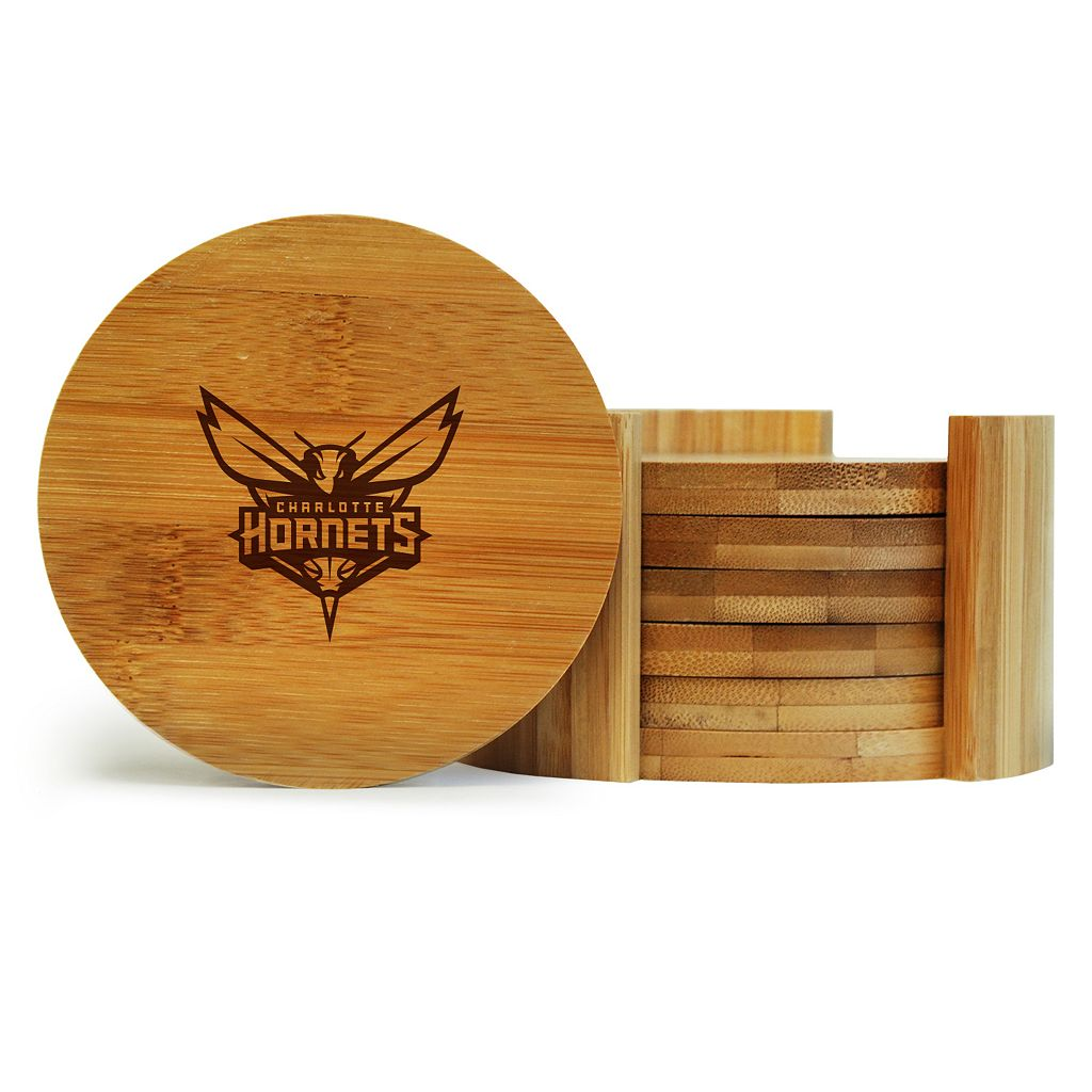 Charlotte Hornets 6-Piece Bamboo Coaster Set