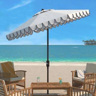 Safavieh Elegant Valance 9-ft. Outdoor Patio Umbrella