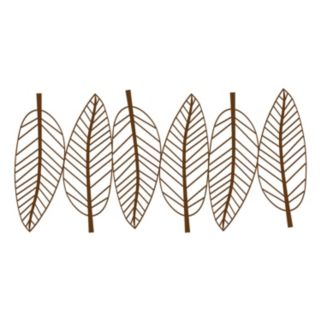 New View Metal Leaves Wall Decor