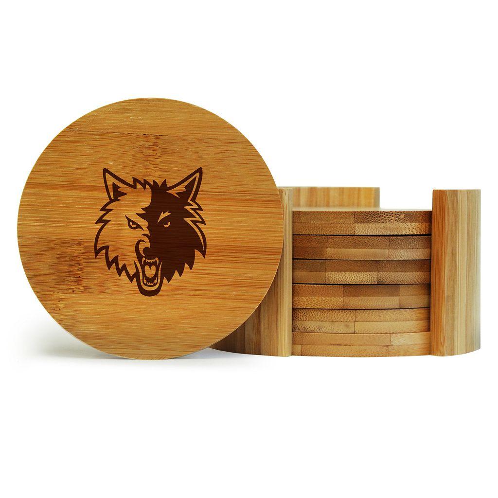 Minnesota Timberwolves 6-Piece Bamboo Coaster Set
