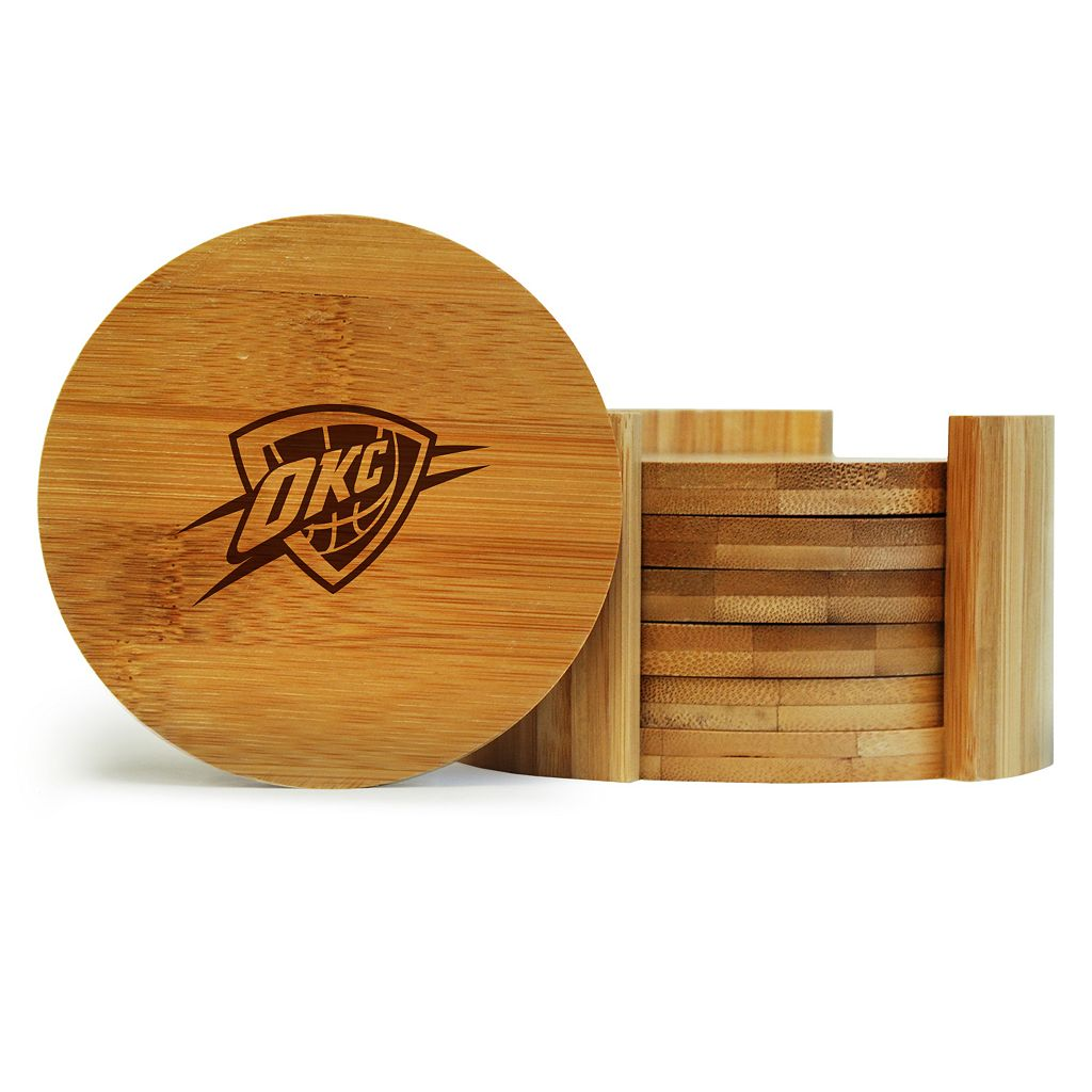 Oklahoma City Thunder 6-Piece Bamboo Coaster Set