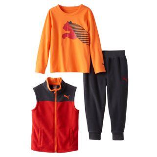 Baby Boy PUMA Tee, Fleece Vest & Pants Set