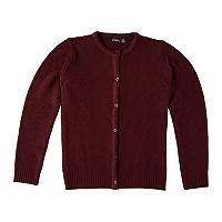 Girls 4-16 Chaps School Uniform Textured Cardigan