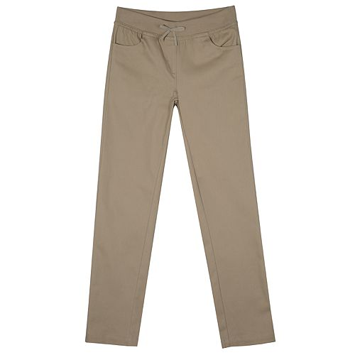 Girls 4-16 & Plus Size Chaps School Uniform Pull-On Skinny Pants