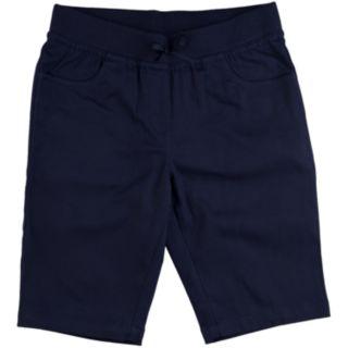 Girls 4-16 & Plus Chaps School Uniform Pull-On Bermuda Shorts