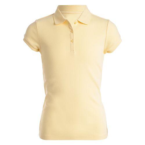 Girls 4-16  & Plus Chaps School Uniform Picot Polo Shirt