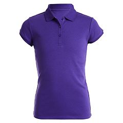Girls 4-16  & Plus Chaps School Uniform Picot Polo Shirt