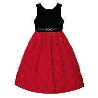 Girls 7-16 Velvet Soutache Skirt Dress