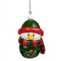 Forever Collectibles Minnesota Wild Penguin Bell Christmas Ornament