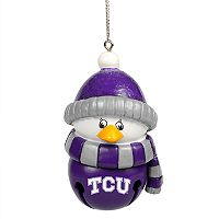 Forever Collectibles TCU Horned Frogs Penguin Bell Christmas Ornament