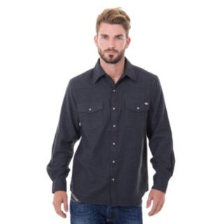 Big & Tall Dickies Solid Flannel Shirt