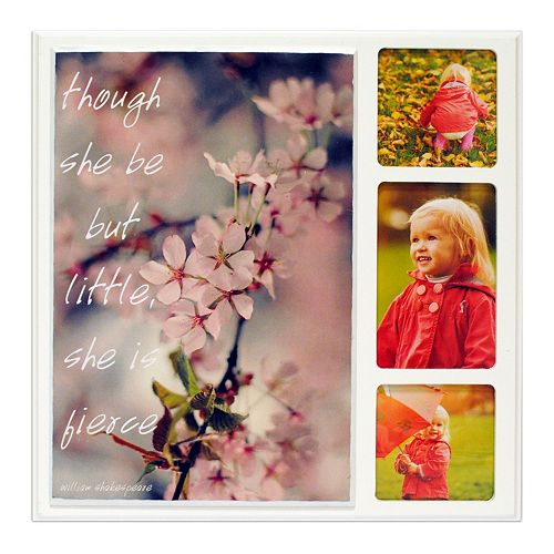 """New View """"She is Fierce"""" Cherry Blossom 3-opening Collage Frame"""