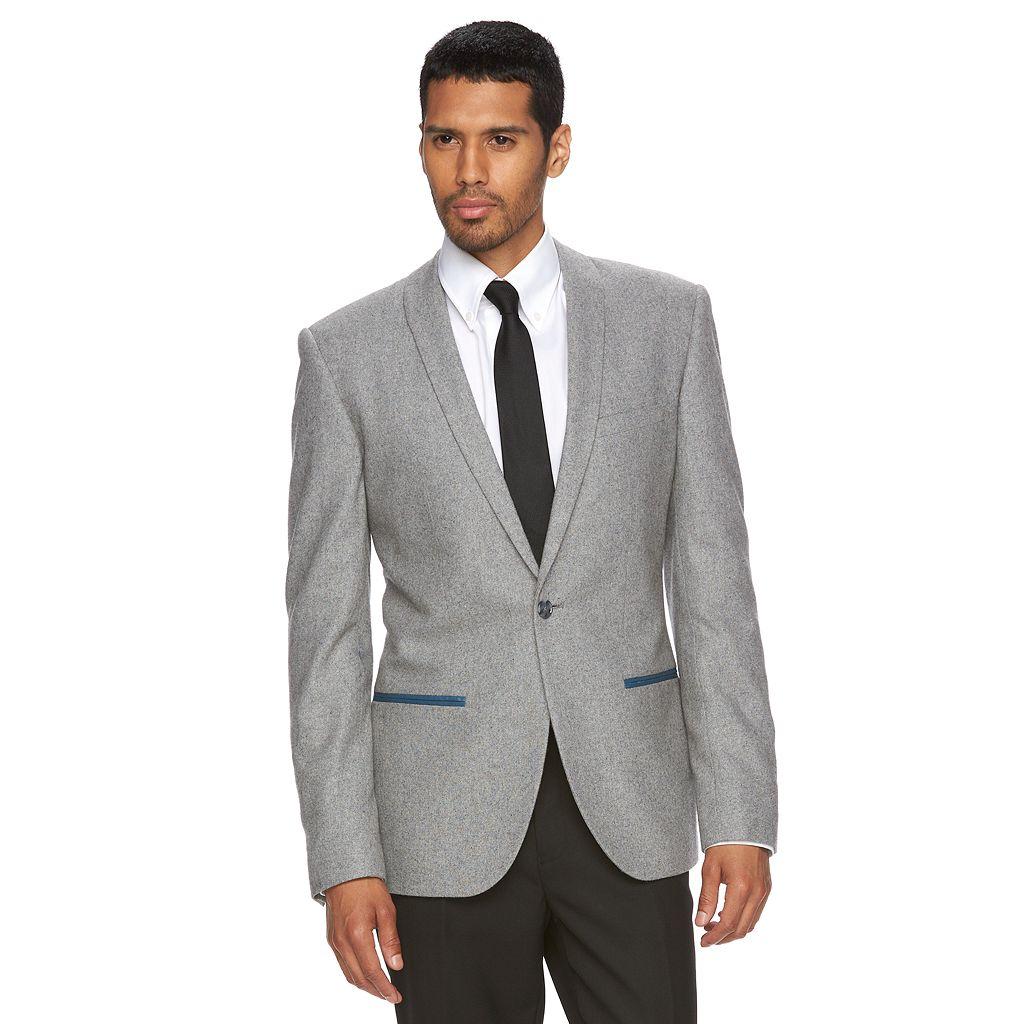 Men's WD.NY Slim-Fit Wool-Blend Shawl-Collar Blazer