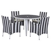 Safavieh Cooley Striped Outdoor Table 5 pc Set