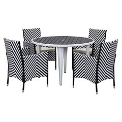 Safavieh Cooley Chevron Outdoor Table 5-piece Set