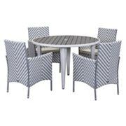 Safavieh Cooley Chevron Outdoor Table 5 pc Set