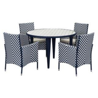 Safavieh Cooley Chevron Outdoor Table 5-piece Set