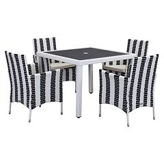 Safavieh Frazier Striped Outdoor Table 5 pc Set