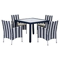 Safavieh Frazier Striped Outdoor Table 5-piece Set