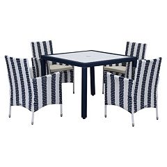 Safavieh Frazier Striped Outdoor Table 5-piece Set