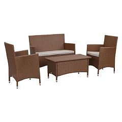Safavieh Figueroa Outdoor Loveseat 4 pc Set