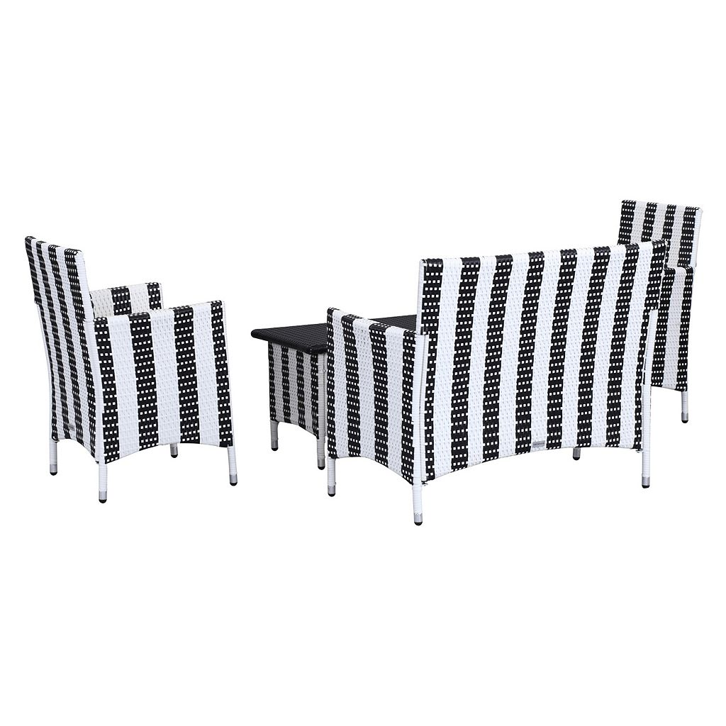 Safavieh Figueroa Striped Outdoor Loveseat 4-piece Set