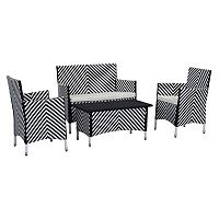 Safavieh Figueroa Chevron Outdoor Loveseat 4-piece Set