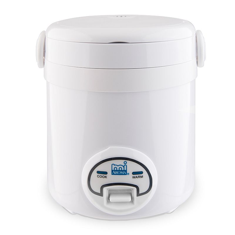 Aroma Digital 3-Cup Mini Rice Cooker, White