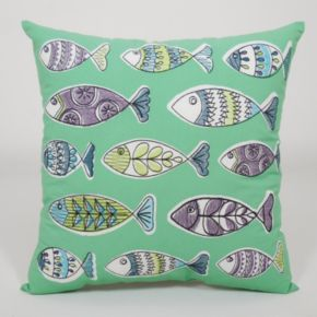 Essentials Fish Party Throw Pillow