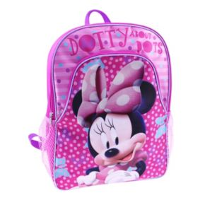 """Disney's Minnie Mouse Kids """"Dotty About Dots"""" Backpacks"""