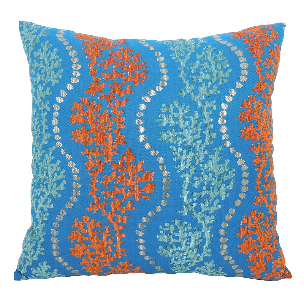 Essentials Coral Garland Throw Pillow