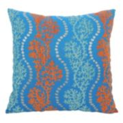 Essentials Coral Garland Throw Pillow