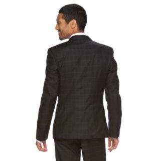 Men's WD.NY Slim-Fit Windowpane Suit Jacket