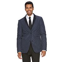 Men's WD.NY Slim-Fit Navy Reversible Quilted Suit Jacket
