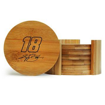 Kyle Busch 6-Piece Bamboo Coaster Set