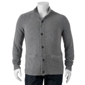 Big & Tall SONOMA Goods for Life? Classic-Fit Wool-Blend 5GG Mockneck Sweater