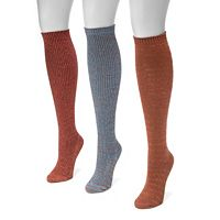 Women's MUK LUKS 3 pkMarled Knee-High Socks