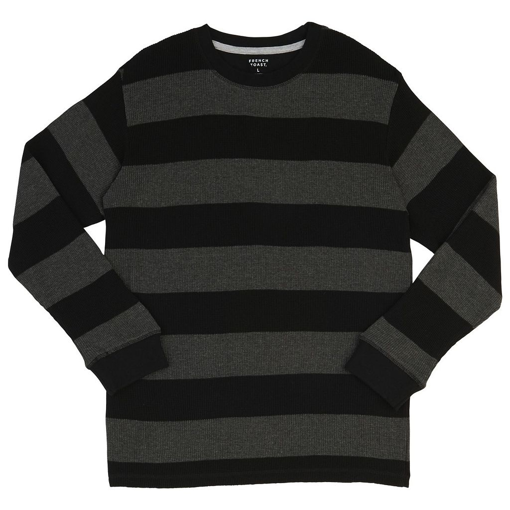 Boys 4-7 French Toast Rugby Stripes Thermal Tee