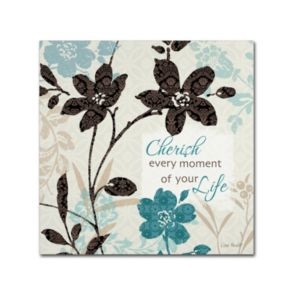 Trademark Fine Art Botanical Touch Quote I Canvas Wall Art