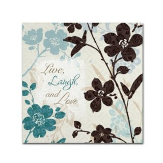 Trademark Fine Art Botanical Touch Quote II Canvas Wall Art