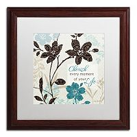 Trademark Fine Art Botanical Touch Quote II Matted Framed Wall Art