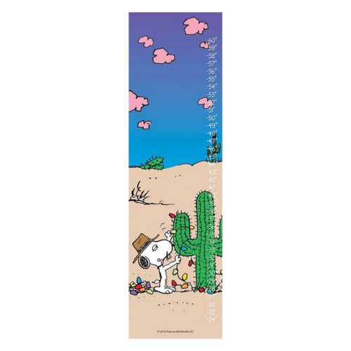Peanuts Snoopy & Cactus Canvas Growth Chart by Marmont Hill