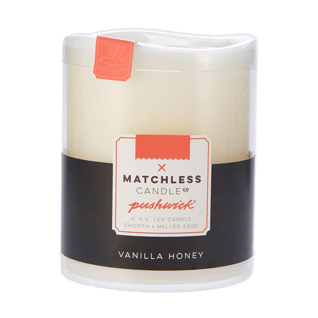Matchless Candle Co. PushWick 4'' x 5'' Vanilla Honey Flameless Candle