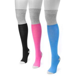 Women's MUK LUKS 3-pk. Colorblock Over-the-Knee Socks
