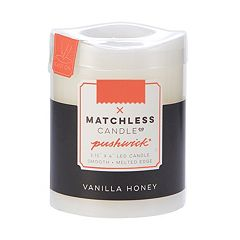 Matchless Candle Co. PushWick 3'' x 4'' Vanilla Honey Flameless Candle