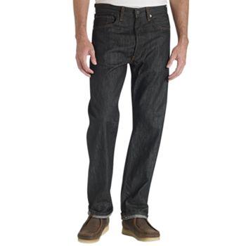 Levis Mens 501 Original Fit Jeans in Wave