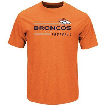Men's Majestic Denver Broncos Line of Scrimmage Tee