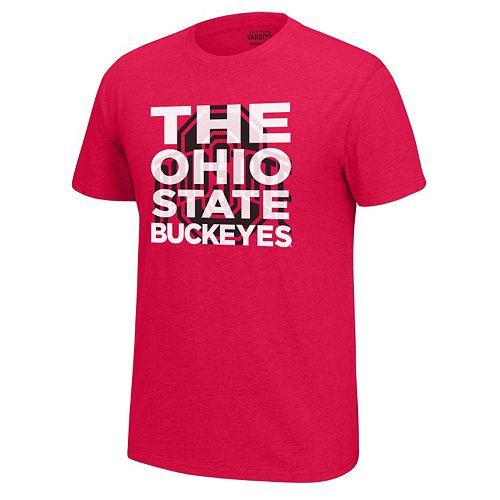 Men's Ohio State Buckeyes Block Tee