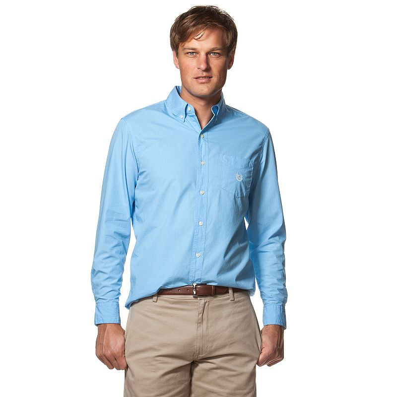 Men's Chaps Classic-Fit Solid Button-Down Shirt